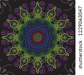 seamless mandala pattern ... | Shutterstock .eps vector #1229063047