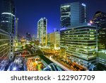 bangkok city night view with... | Shutterstock . vector #122907709