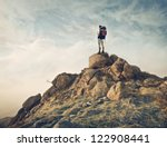 guy with a travel backpack on... | Shutterstock . vector #122908441