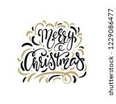 merry christmas text  hand... | Shutterstock .eps vector #1229086477
