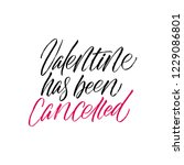 valentine has been cancelled  ... | Shutterstock .eps vector #1229086801