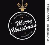 merry christmas bauble... | Shutterstock .eps vector #1229090581