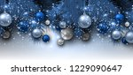 blue christmas background with... | Shutterstock .eps vector #1229090647