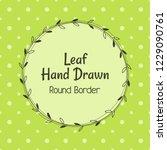 vector cartoon hand drawn leaf... | Shutterstock .eps vector #1229090761