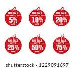 discount percentage icon set | Shutterstock .eps vector #1229091697