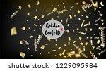 modern new year confetti... | Shutterstock .eps vector #1229095984