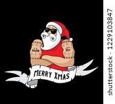 cartoon christmas santa claus... | Shutterstock .eps vector #1229103847
