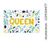quenn   hand lettered vector... | Shutterstock .eps vector #1229104477