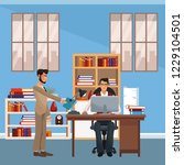 executive business coworkers | Shutterstock .eps vector #1229104501