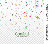abstract colorful confetti...   Shutterstock .eps vector #1229105827