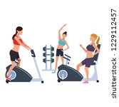fitness people training | Shutterstock .eps vector #1229112457