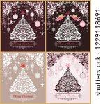 ornate vintage christmas... | Shutterstock .eps vector #1229118691