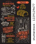 mexican menu template for... | Shutterstock .eps vector #1229129677