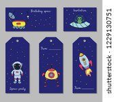 set of astronomy hand drawn... | Shutterstock .eps vector #1229130751