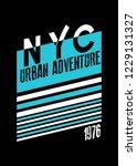 new york urban adeventure... | Shutterstock .eps vector #1229131327