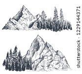 vector set of hand drawn... | Shutterstock .eps vector #1229144371