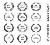 film awards. set of black and... | Shutterstock .eps vector #1229146264