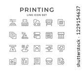 set line icons of print | Shutterstock .eps vector #1229154637