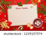 christmas template for letter... | Shutterstock .eps vector #1229157574