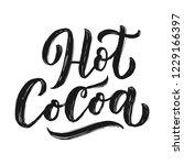 hot cocoa hand lettering... | Shutterstock .eps vector #1229166397
