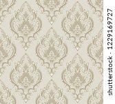 vector damask seamless pattern... | Shutterstock .eps vector #1229169727