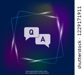 question answer neon light icon.... | Shutterstock .eps vector #1229171911