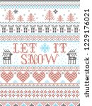 Seamless Christmas Pattern Let...