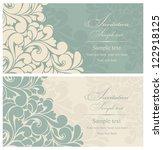 wedding invitation cards... | Shutterstock .eps vector #122918125