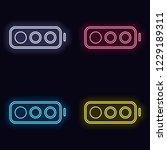 simple battery  low level. set... | Shutterstock .eps vector #1229189311