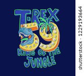 tyrannosaurus rex vector... | Shutterstock .eps vector #1229193664