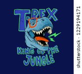 tyrannosaurus rex vector... | Shutterstock .eps vector #1229194171