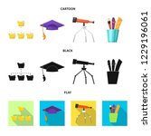 isolated object of education... | Shutterstock .eps vector #1229196061