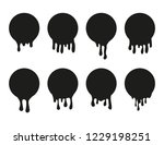 set of dripping paint icon for... | Shutterstock .eps vector #1229198251