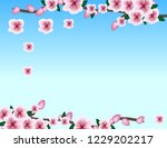 frame spring cherry branch | Shutterstock .eps vector #1229202217