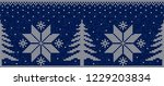 blue and white christmas...   Shutterstock .eps vector #1229203834