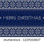 blue and white merry christmas...   Shutterstock .eps vector #1229203837