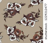 seamless pattern with rose... | Shutterstock .eps vector #1229212477