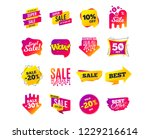 sale banner templates design.... | Shutterstock .eps vector #1229216614