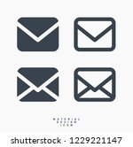 email message material design... | Shutterstock .eps vector #1229221147