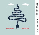 square christmas card inspired... | Shutterstock .eps vector #1229227984