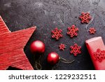 close up of red christmas... | Shutterstock . vector #1229232511