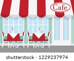 vector illustration of cafe or... | Shutterstock .eps vector #1229237974