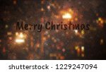 frosty christmas window with... | Shutterstock .eps vector #1229247094