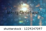 frosty christmas window with... | Shutterstock .eps vector #1229247097