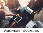business people work together... | Shutterstock . vector #1229260537