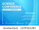 science conference business... | Shutterstock .eps vector #1229261281