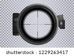 sniper scope crosshairs in... | Shutterstock .eps vector #1229263417