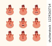 funny character's emotions.... | Shutterstock .eps vector #1229263714