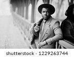 stylish african american man... | Shutterstock . vector #1229263744