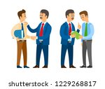 boss with man  employer and... | Shutterstock .eps vector #1229268817